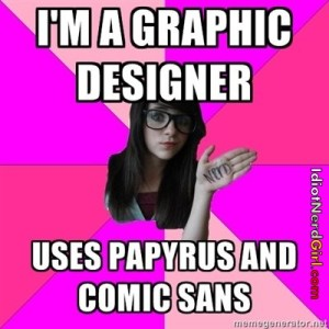 Idiot Nerd Girl_graphic design